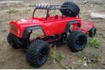 Монстр Mega Jeep полный комплект с б/к мотором красный (AP14R)