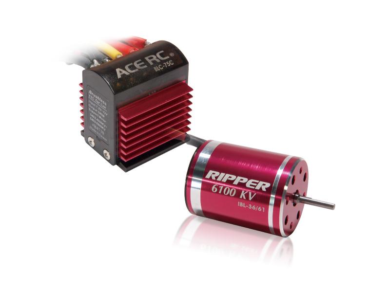 В комплекте электронный регулятор скорости BLC-75C и бесколлекторный электромотор IBL36/61-540С.  8057.